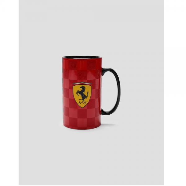 Ferrari Keramiktasse mit Schachbrettmuster mit 3D-Effekt