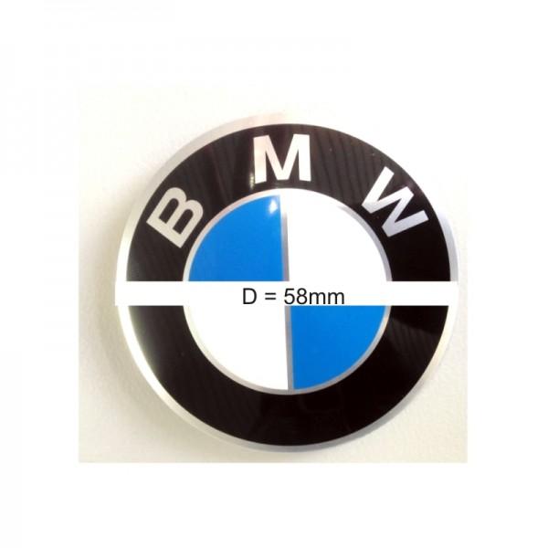 Original BMW Radnabenemblem Logo Emblem / Aufkleber / Plakette selbstklebend Ø 58 mm