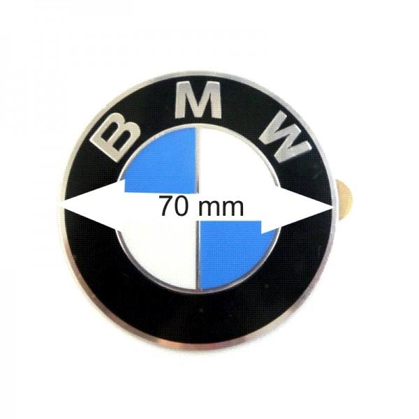 Original 4x BMW Radnabenabdeckung Logo Emblem / Aufkleber / Plakette Ø 70 mm