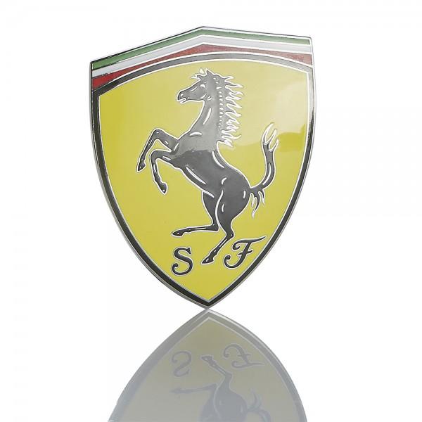 Original Ferrari Emblem Plakette für Kotflügel Rennteam SF FF