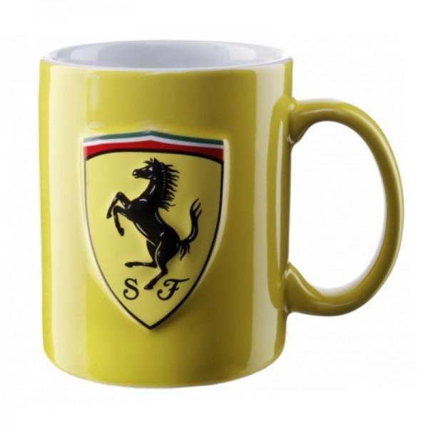 Original Ferrari Becher / Tasse gelb Scuderia SF Logo