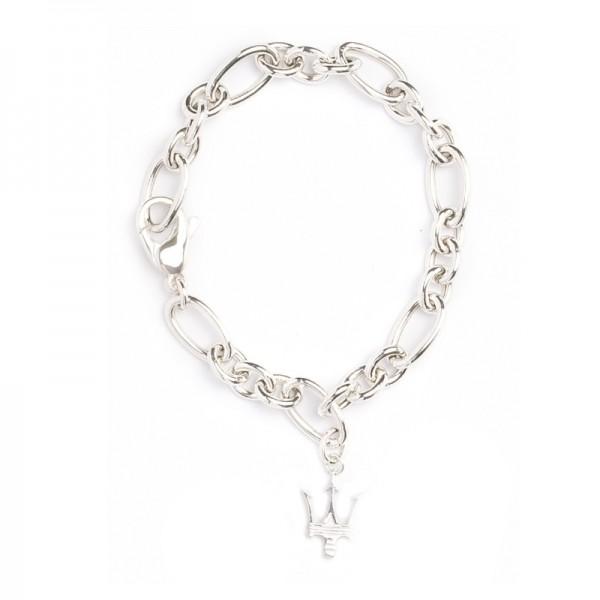 Original Maserati Armband Bracelet Charm Tridente Silber