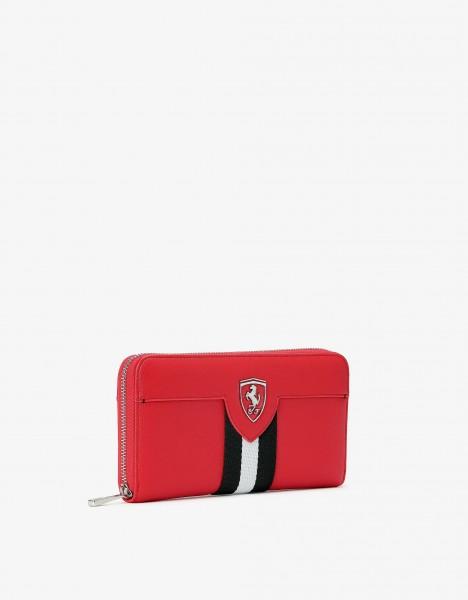 Ferrari Damen Brieftasche Geldbeutel Rot mit Ferrari Wappen
