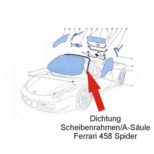 Original Ferrari Dichtung Windschutzscheibe 458 Spider