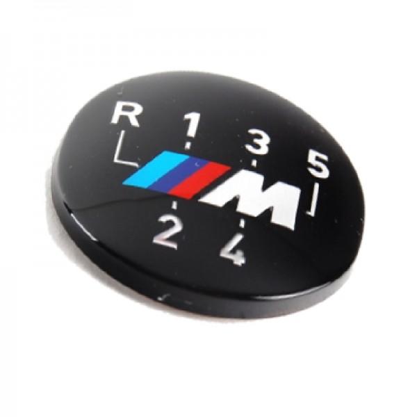 Original BMW M Emblem / Aufkleber / Plakette für Schaltknauf 5 gang selbstklebend 3er 5er Z3 6er 7er