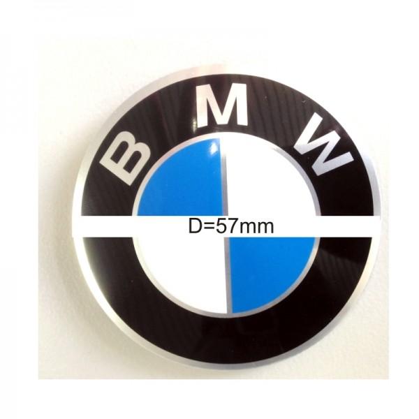 Original BMW Radnabenabdeckung Logo Emblem / Aufkleber / Plakette selbstklebend Ø 57 mm