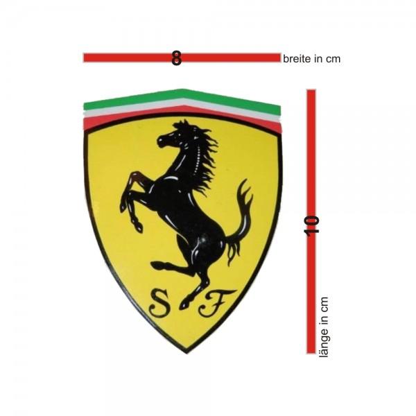 original Ferrari Wappen Emblem / Aufkleber / Sticker 8x10 cm
