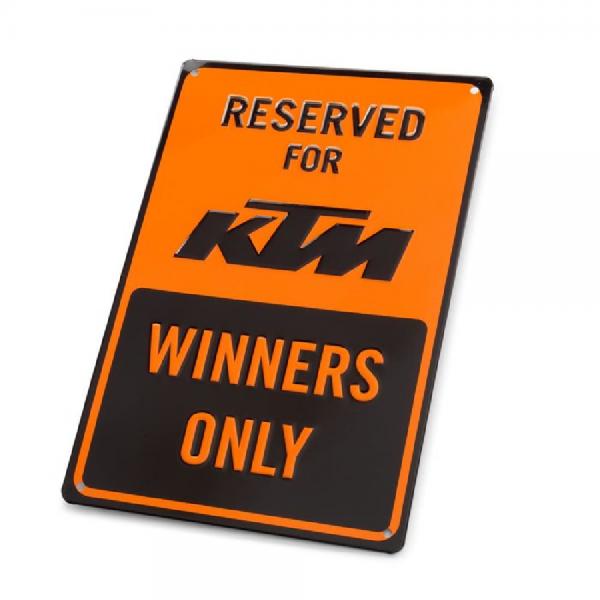 KTM PARKING PLATE Metallschild