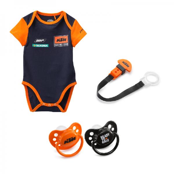 Original KTM Set Baby Body 92 Schnuller Schnullerband 4-teilig